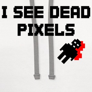 Natural Sarah Marshall Dead Pixels T-Shirts - Contrast Hoodie