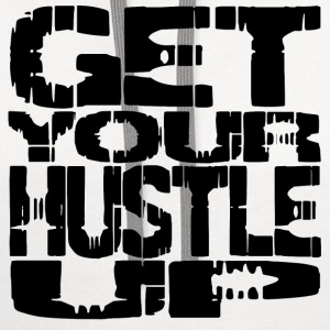 White hustle up T-Shirts - Contrast Hoodie