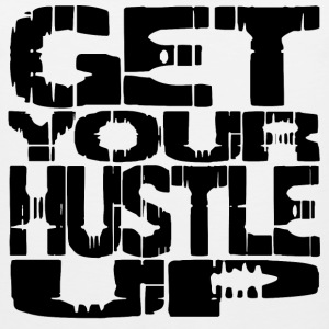 White hustle up T-Shirts - Men's Premium Tank