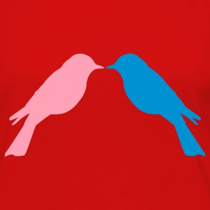 Red Love Birds Toddler Shirts - Women's Premium Long Sleeve T-Shirt