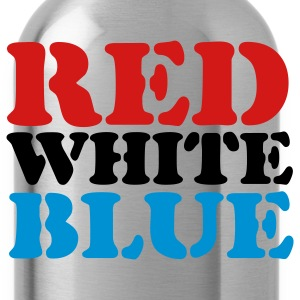 Sky blue Red White Blue T-Shirts - Water Bottle