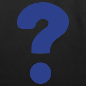 Black Question Mark / ? T-Shirts - Eco-Friendly Cotton Tote