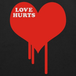 Black Love Hurts T-Shirts - Eco-Friendly Cotton Tote