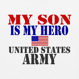 White SON HERO ARMY T-Shirts - Men's Premium Tank