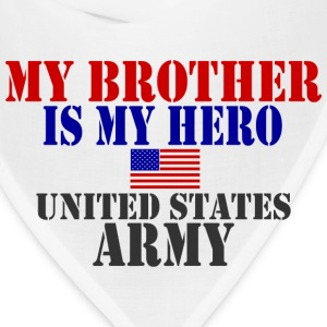 White BROTHER HERO ARMY T-Shirts - Bandana