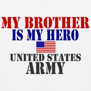 White BROTHER HERO ARMY T-Shirts - Men's Premium Tank