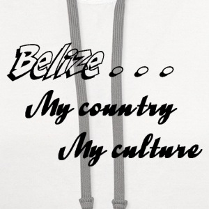 Belize My Country My Culture - Contrast Hoodie