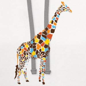 Natural Colorful Giraffe T-Shirts - Contrast Hoodie