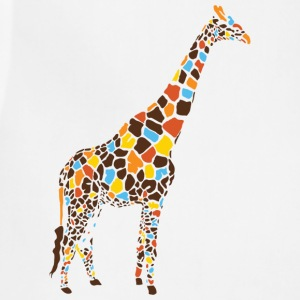 Natural Colorful Giraffe T-Shirts - Adjustable Apron