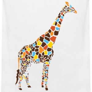 Natural Colorful Giraffe T-Shirts - Men's Premium Tank