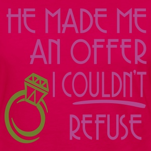 Fuchsia He Made Me An Offer I Couldn't Refuse Plus Size - Women's Premium Long Sleeve T-Shirt