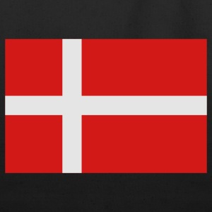 Black Danish Flag T-Shirts - Eco-Friendly Cotton Tote