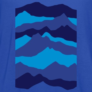 Royal blue mountains - nature - waves - water Kids' Shirts - Women's Flowy Tank Top by Bella