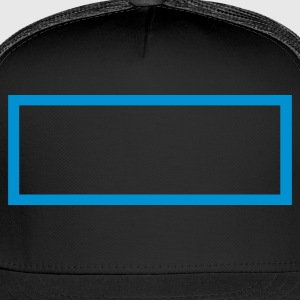 Black Rectangle Outline T-Shirts - Trucker Cap