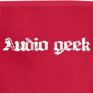 Burgundy audio geek for color shirts T-Shirts - Adjustable Apron