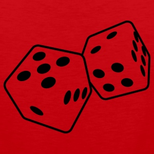 Red dice 1 T-Shirts - Men's Premium Tank