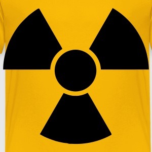 Yellow Radioactive Sign 2 Kids' Shirts - Toddler Premium T-Shirt