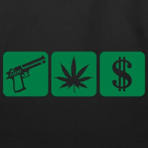 Black guns weed cash T-Shirts - Eco-Friendly Cotton Tote