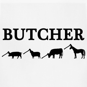 White butcher T-Shirts - Adjustable Apron