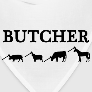 White butcher T-Shirts - Bandana
