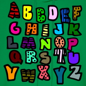 Kelly green Graffiti Alphabet Multi-Color--DIGITAL DIRECT ONLY Kids' Shirts - Men's Hoodie