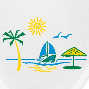 White island_paradise_vacation_beach T-Shirts - Bandana