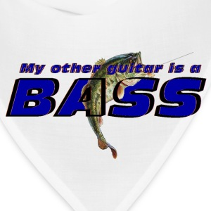 'My other guitar is a BASS' funny fish logo shirt - Bandana