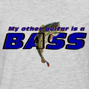 'My other guitar is a BASS' funny fish logo shirt - Men's Premium Long Sleeve T-Shirt