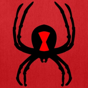 black widow on front - Tote Bag