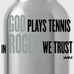 Black GOD plays tennis T-Shirts - Water Bottle