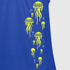 Royal blue jellyfish Kids' Shirts - Women's Flowy Tank Top by Bella