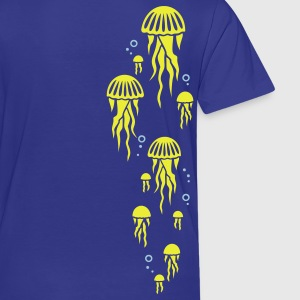 Royal blue jellyfish Kids' Shirts - Toddler Premium T-Shirt
