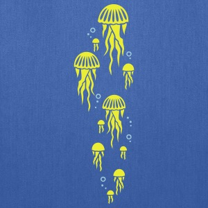 Royal blue jellyfish Kids' Shirts - Tote Bag