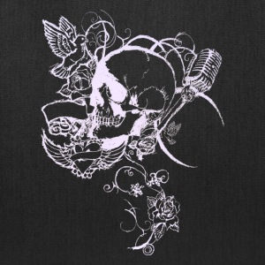 Skull tattoo banner vine [white edition] - Tote Bag