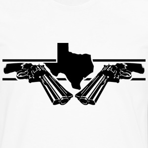 White texas 2 guns T-Shirts - Men's Premium Long Sleeve T-Shirt