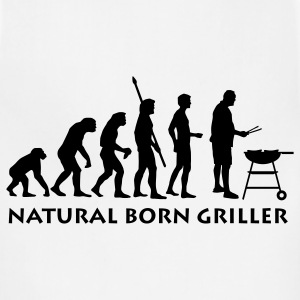 White natural_born_griller T-Shirts - Adjustable Apron