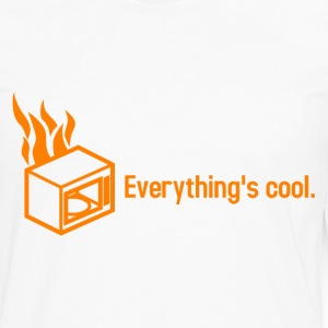 Simple Microwave on Fire - Men's Premium Long Sleeve T-Shirt