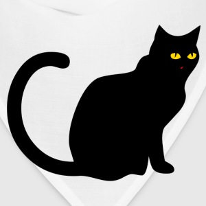 White black cat Toddler Shirts - Bandana
