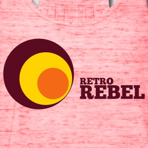 Gold retro rebel T-Shirts - Women's Flowy Tank Top by Bella