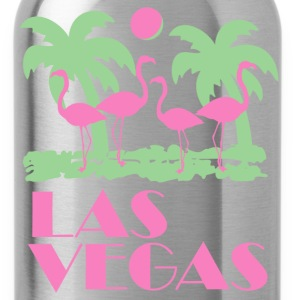 Navy Retro Las Vegas T-Shirts - Water Bottle