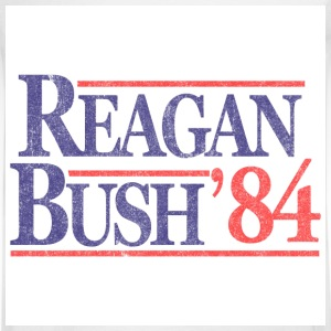White Vintage Reagan Bush 1984 T-Shirts - Men's Long Sleeve T-Shirt