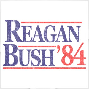 White Vintage Reagan Bush 1984 T-Shirts - Bandana