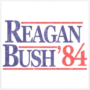 White Vintage Reagan Bush 1984 T-Shirts - Men's Premium Tank