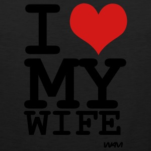 Black i love my wife by wam T-Shirts - Men's Premium Tank
