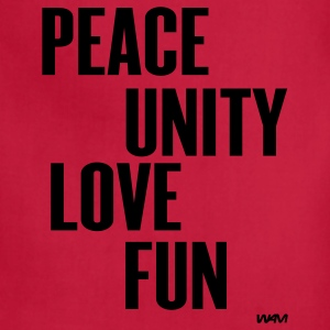 Red peace unity love fun( zulu nation ) by wam T-Shirts - Adjustable Apron