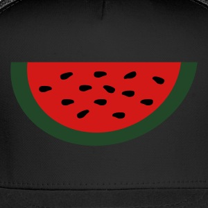 Black Large Watermelon Slice Toddler Shirts - Trucker Cap