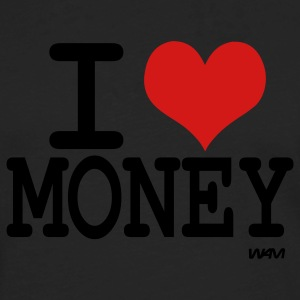 Black i love money by wam T-Shirts - Men's Premium Long Sleeve T-Shirt