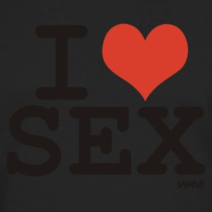 Black i love sex by wam T-Shirts - Men's Premium Long Sleeve T-Shirt