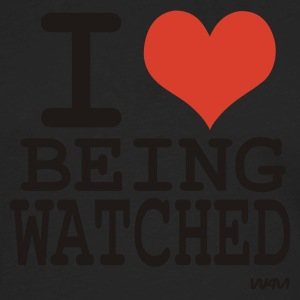 Black i love being watched by wam T-Shirts - Men's Premium Long Sleeve T-Shirt