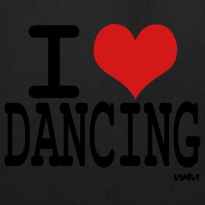 Black i love dancing by wam T-Shirts - Eco-Friendly Cotton Tote